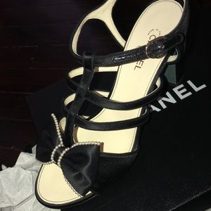 CHANEL Shoes - BEAUTIFUL limited edition satin channel sandals